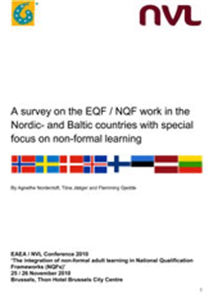 A survey on the EQF / NQF work in the Nordic- and Baltic countries with special focus on non-formal learning