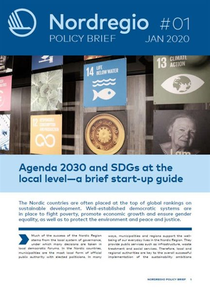 Agenda 2030 and SDGs at the local level - a brief start-up guide