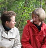Educational Counsellor Raija Meriläinen from the Ministry of Education (left) together with Lecturer Karin Hirasawa, Stockholm Institute of Education.